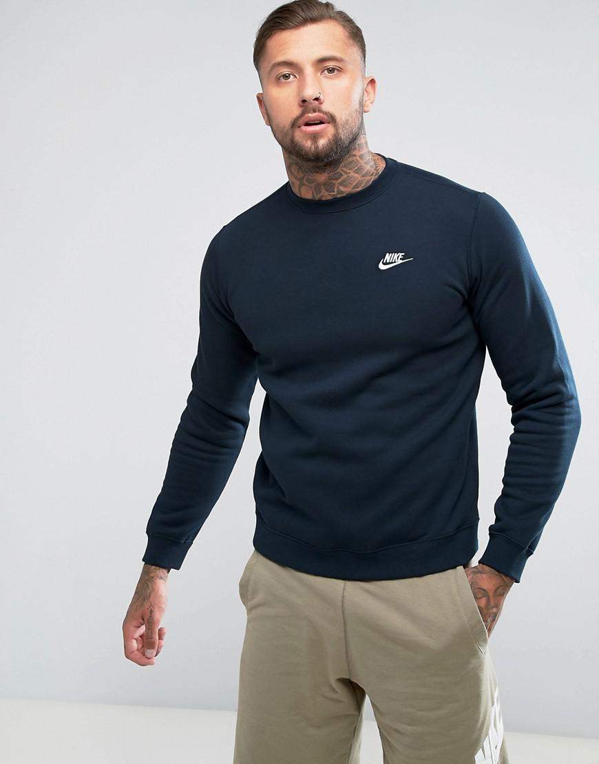 san francisco amazing price wholesale sales Club Swoosh Crew Sweatshirt In Navy 804340-451