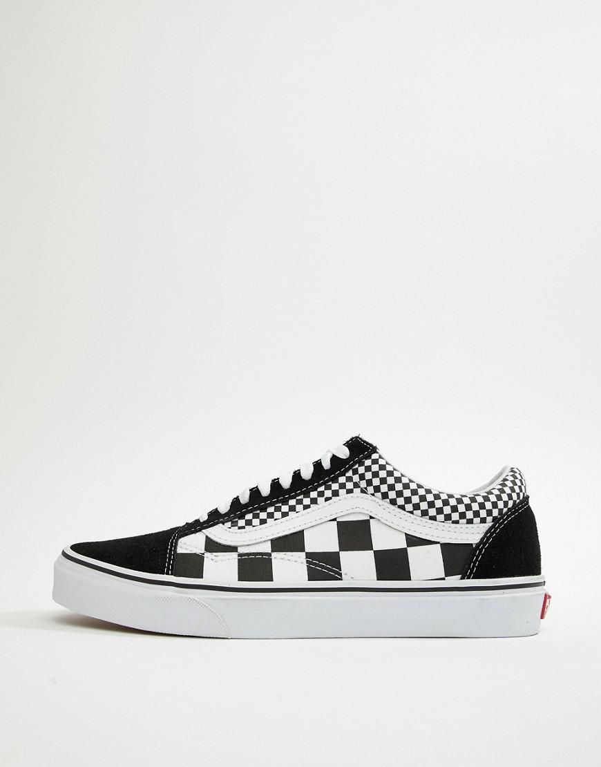 a05b4347ae3 Vans Old Skool Checkerboard Sneakers In Black Vn0a38g1q9b1 in Black for Men  - Lyst