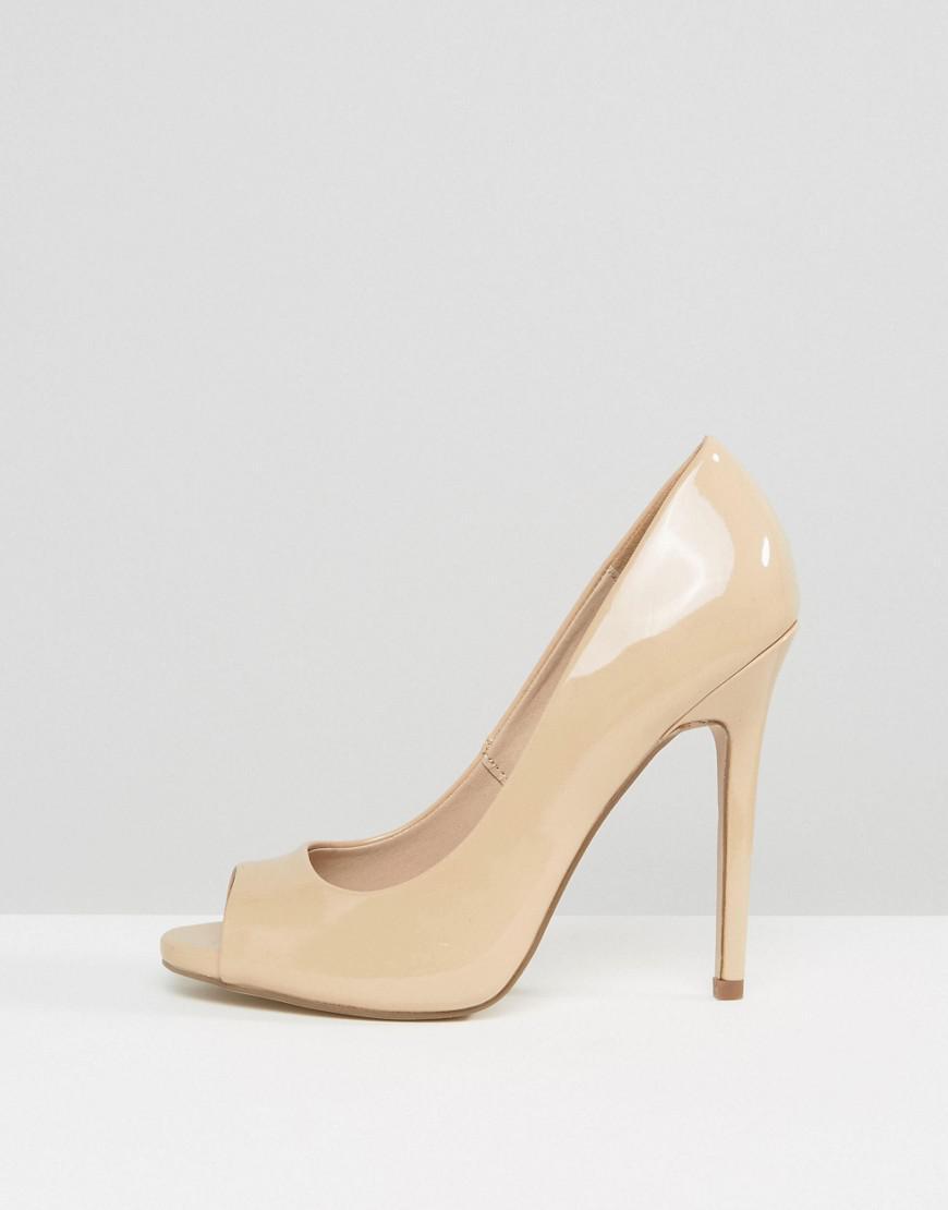 9a6865ce4b60 ASOS Asos Praise Peep Toe High Heels in Natural - Lyst