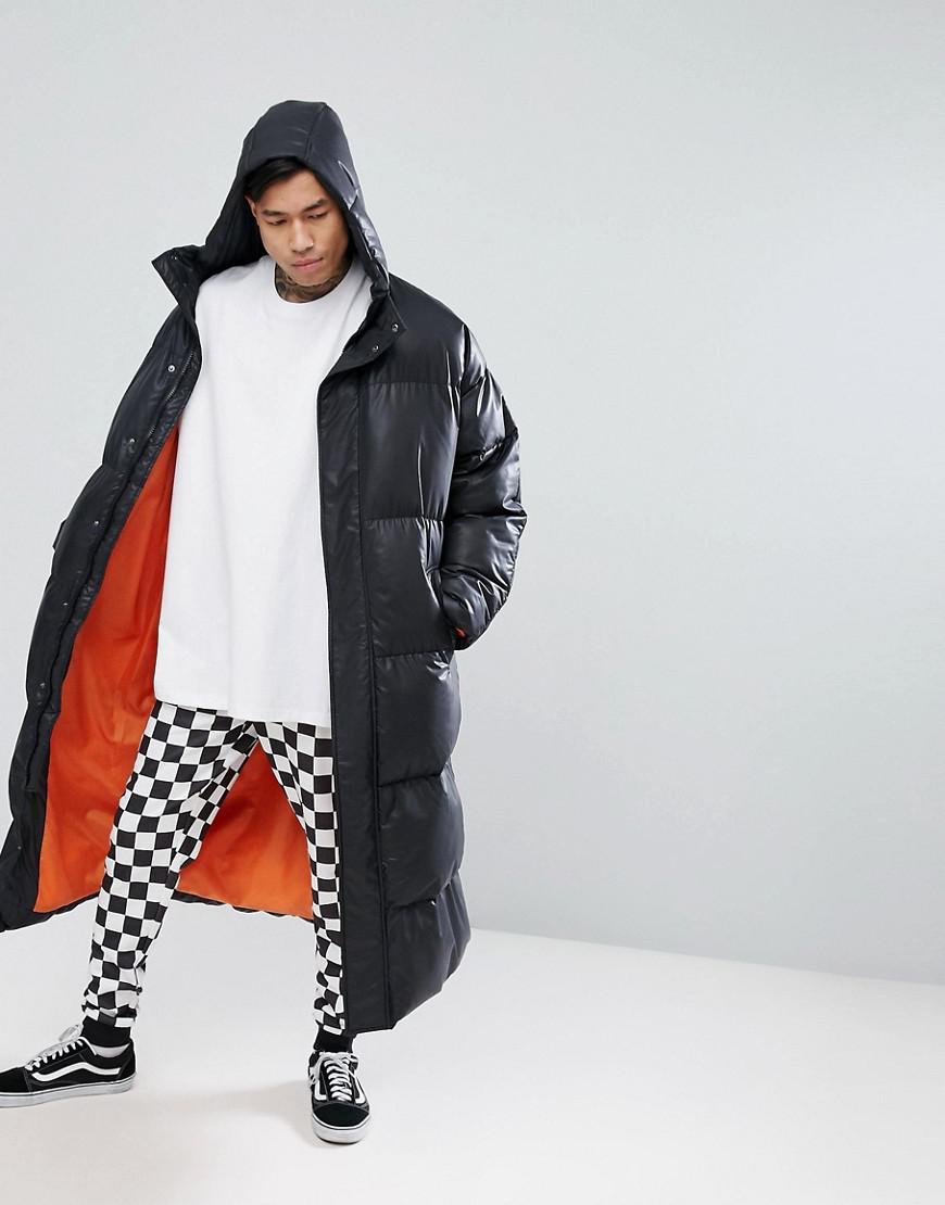 Lyst Asos Super Longline Oversized Puffer Jacket With