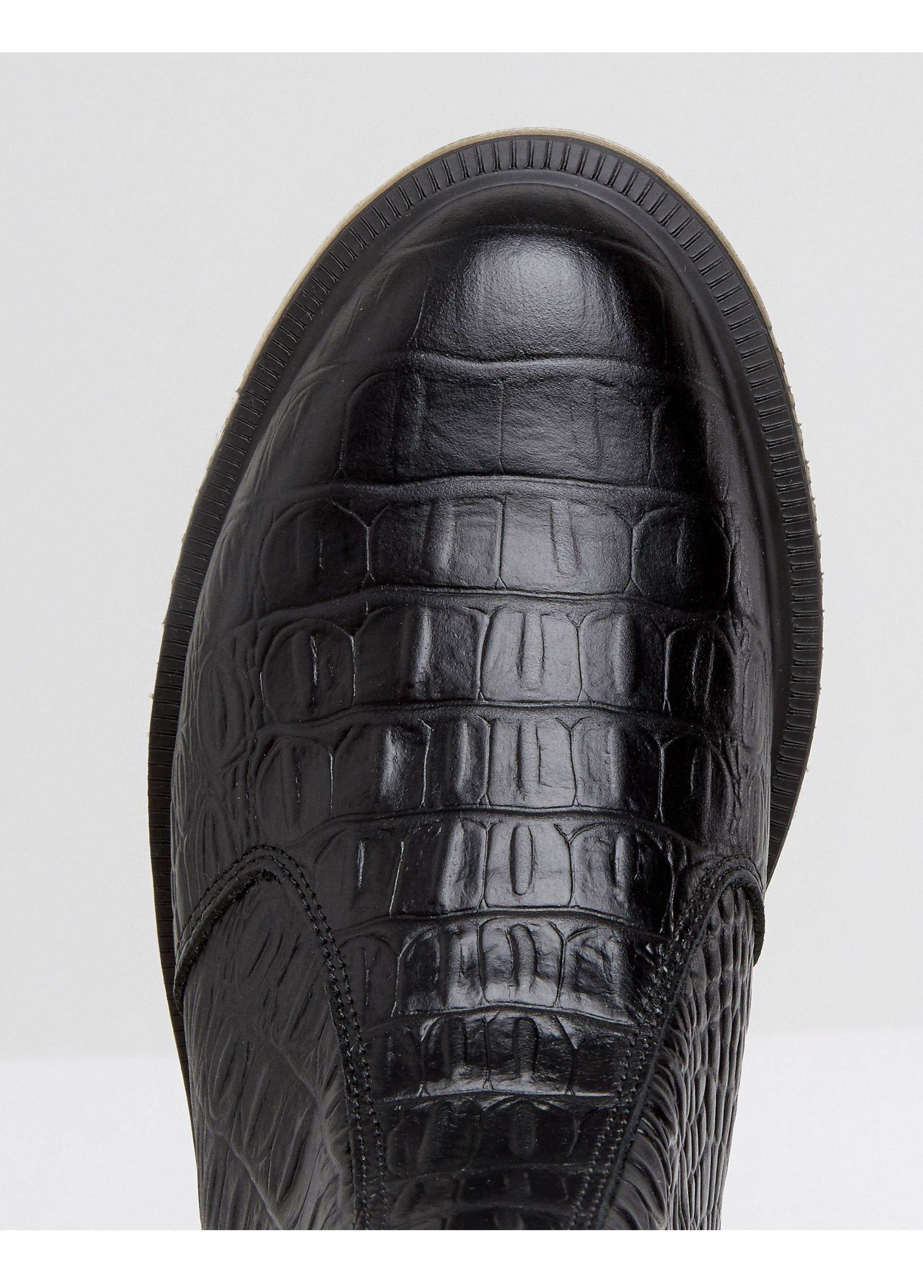 dr martens flora croc black