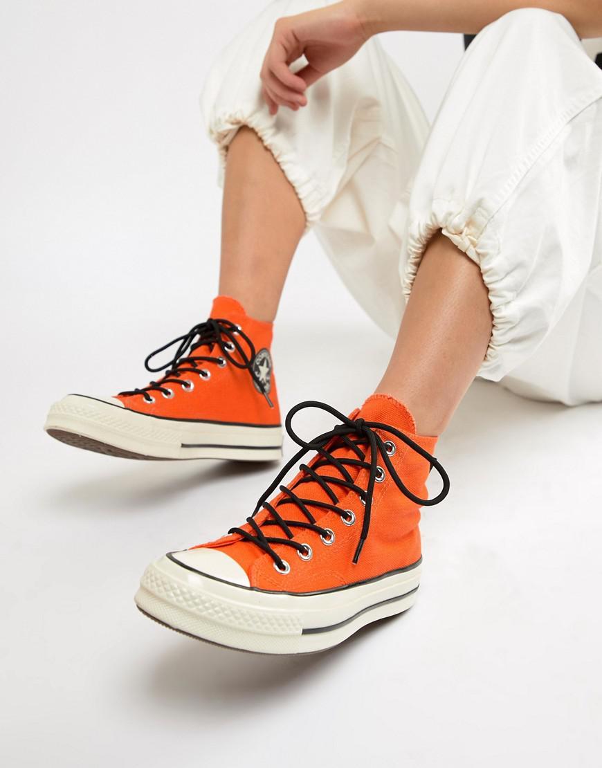 Converse Canvas X Gore-tex Chuck 70 Hi Orange Waterproof Sneakers ...
