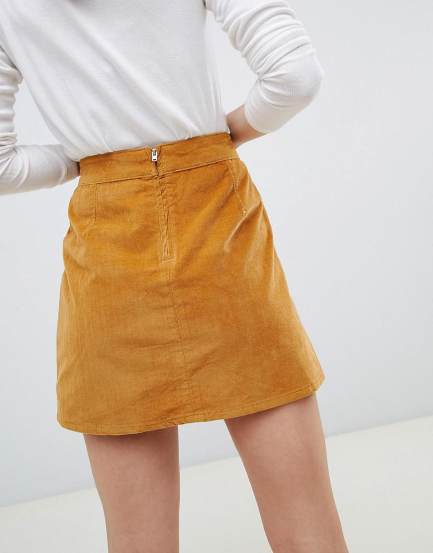 85f9494433 Lyst - ASOS Co-ord Cord Skirt In Tan in Brown