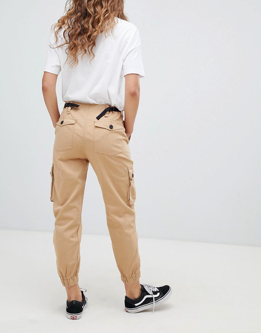 zapatos deportivos 224a5 4cda3 Women's Yellow Utility Cargo Trousers In Beige