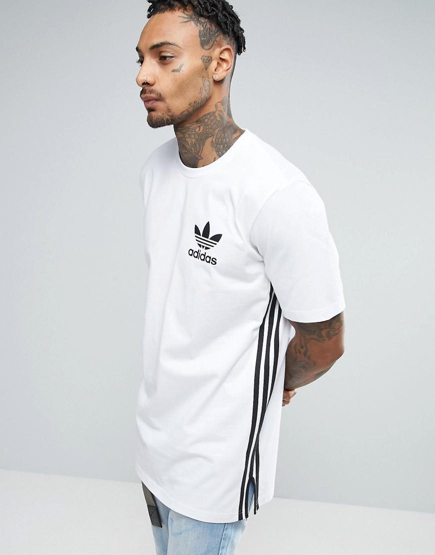 Adidas Originals camiseta en blanco bk7592 palangre en blanco para hombres