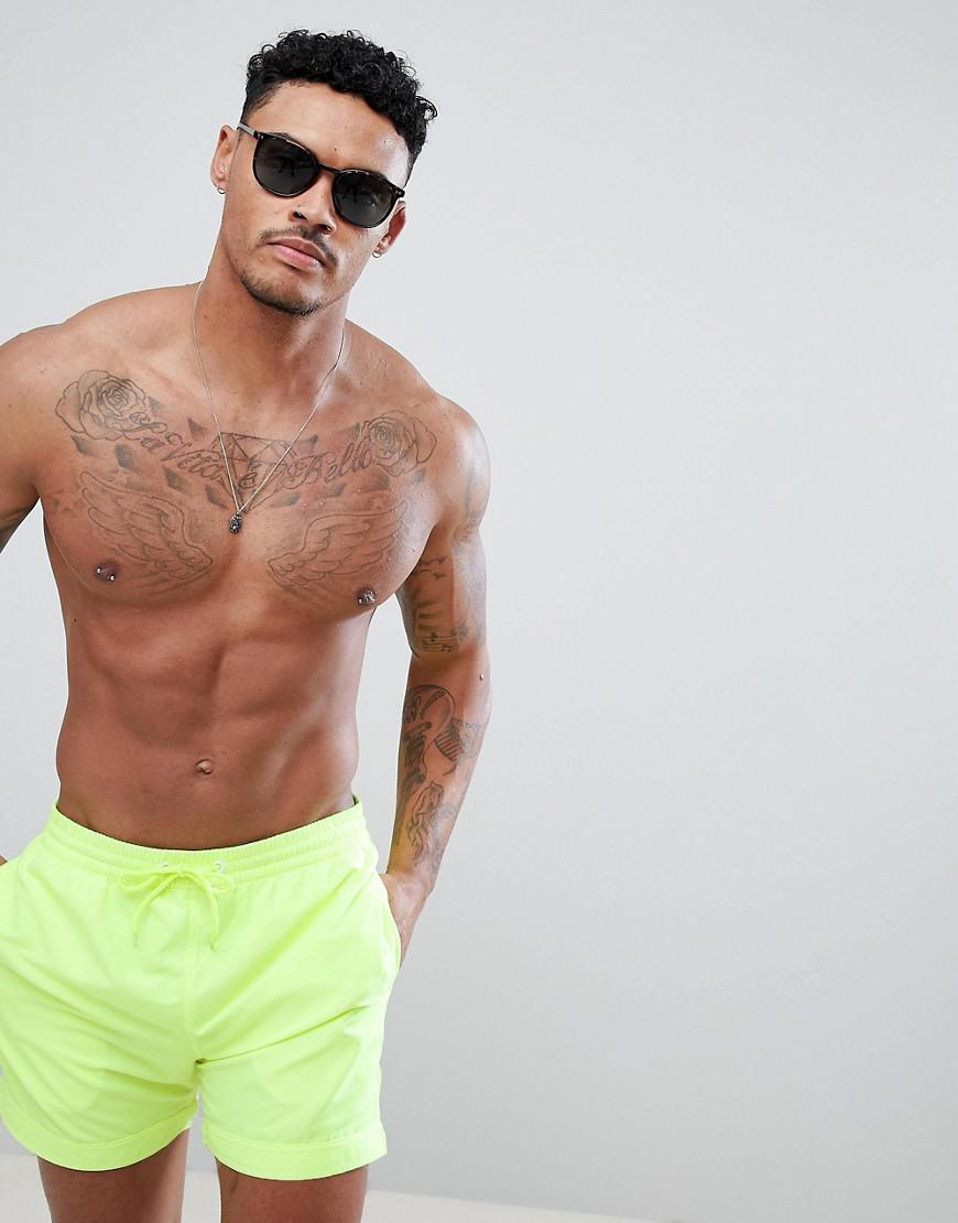 7df065a0a6 South Beach Swim Shorts In Neon in Yellow for Men - Lyst