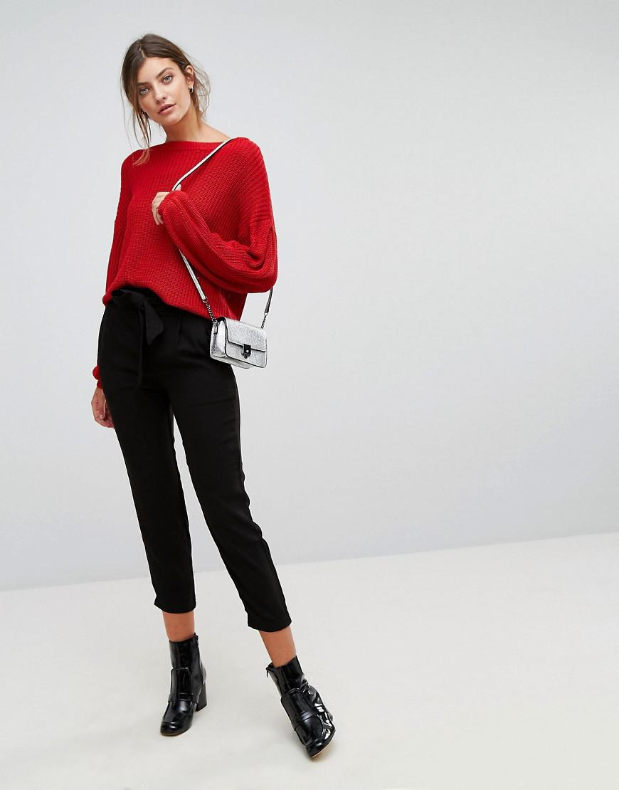 Many Colors Black Tailored Trouser - Black Stradivarius Outlet Very Cheap Clearance Cheapest Free Shipping Pay With Visa 2018 For Sale vxY9ikD