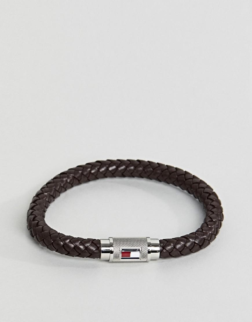 99e3065aa6945 Tommy Hilfiger Leather Single Wrap Barrel Bracelet In Brown for Men ...