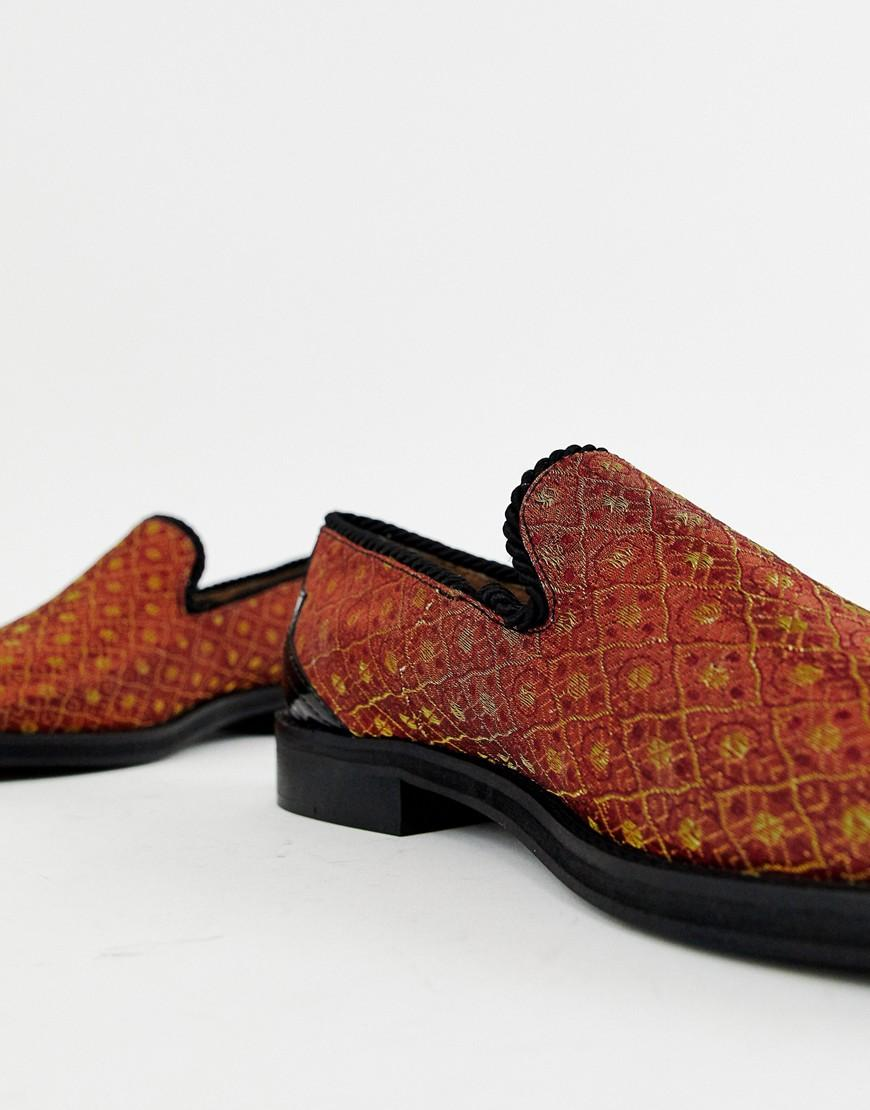 396879db173 Lyst - House Of Hounds Styx Loafers In Orange Brocade in Orange for Men