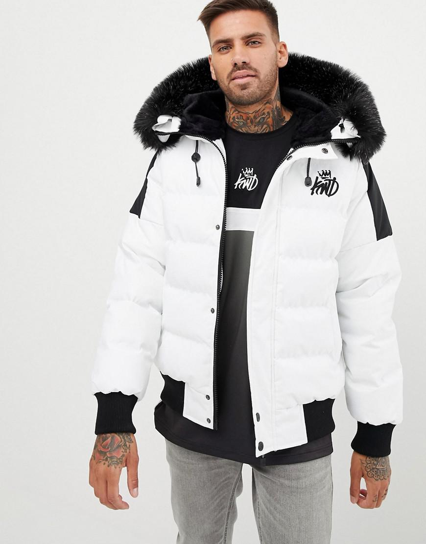 9d44c1ab6e5 Lyst - Kings Will Dream Puffer Bomber Jacket In White With ...