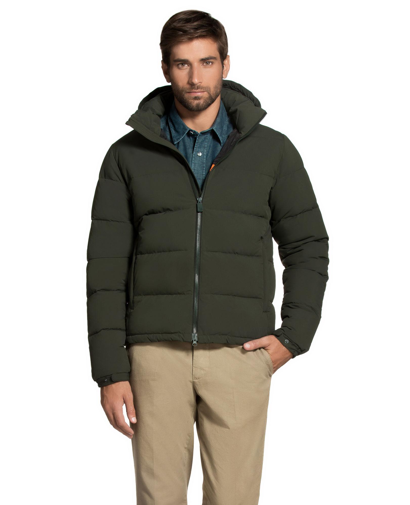 Aspesi Synthetic Down Jacket Poco Elastico in Green for Men