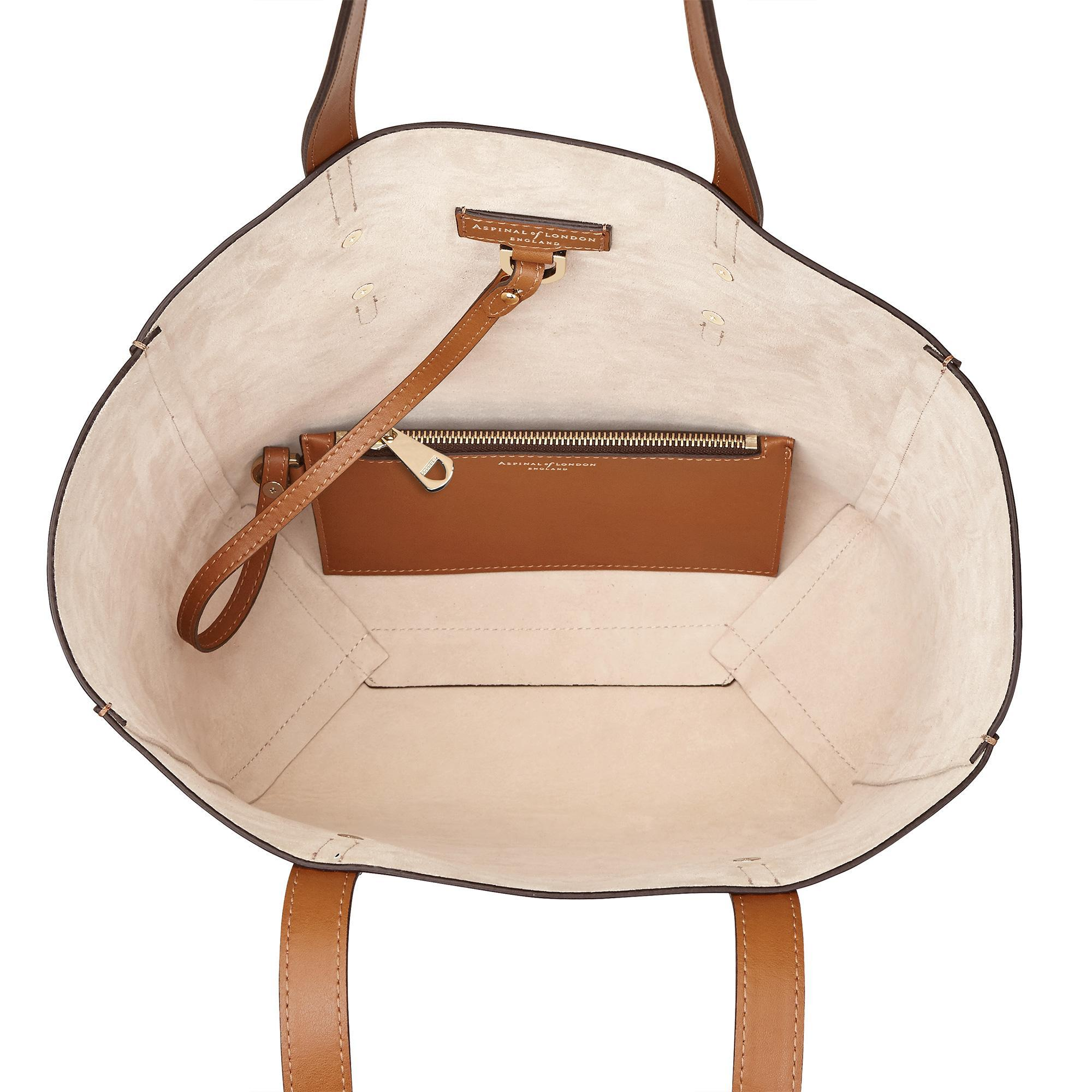 Aspinal of London Leather Aspinal Essential Tote in Natural