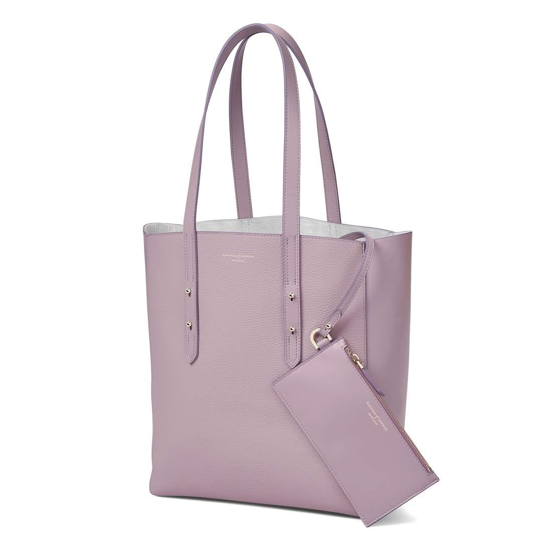 Aspinal of London Leather Essential Tote in Lilac (Purple)