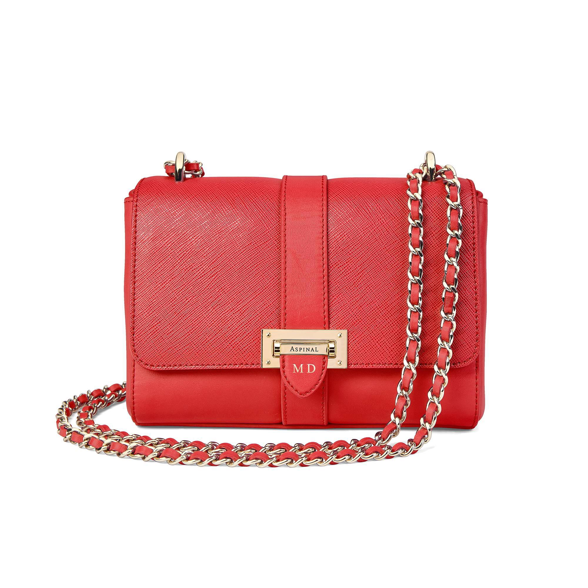 6c7d3fa4604b Aspinal of London Micro Lottie Bag in Red - Lyst