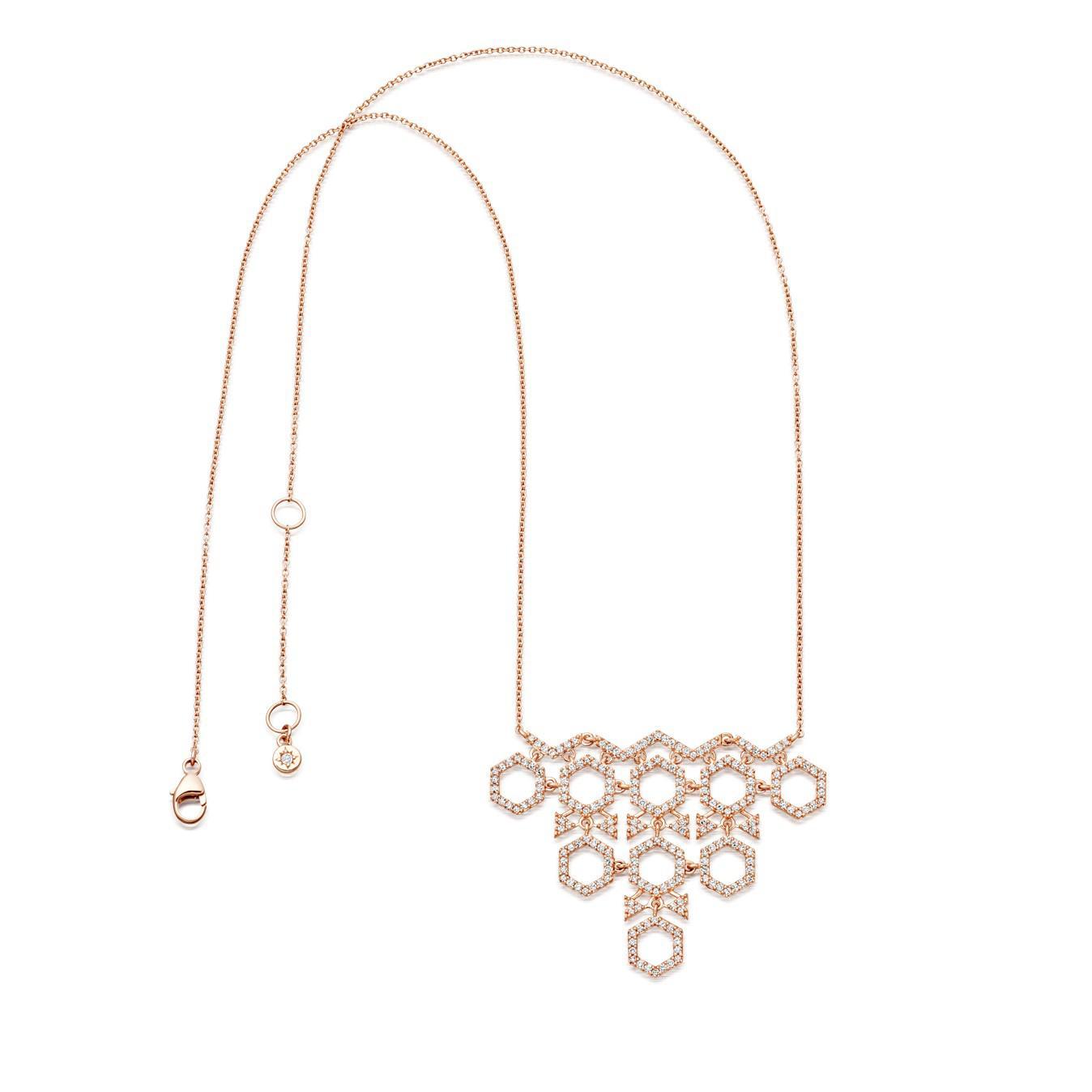Astley Clarke Honeycomb Necklace in Metallic