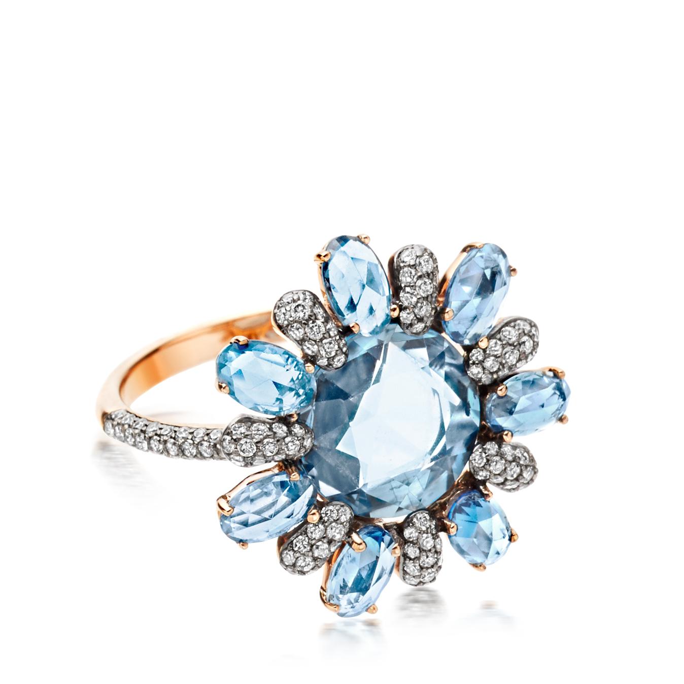 Lyst astley clarke santa maria aquamarine fao ring in blue for Santa maria jewelry company