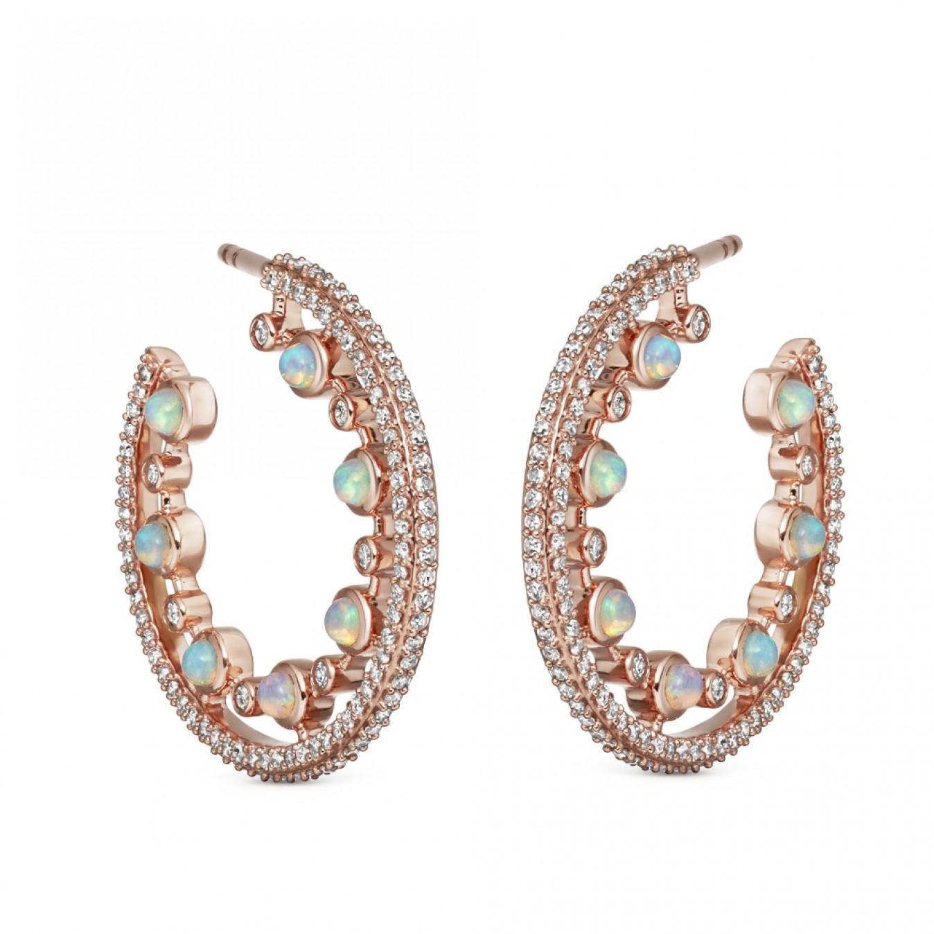 d0c8dcb46c5c2 Lyst - Astley Clarke Large Icon Nova Opal Hoop Earrings