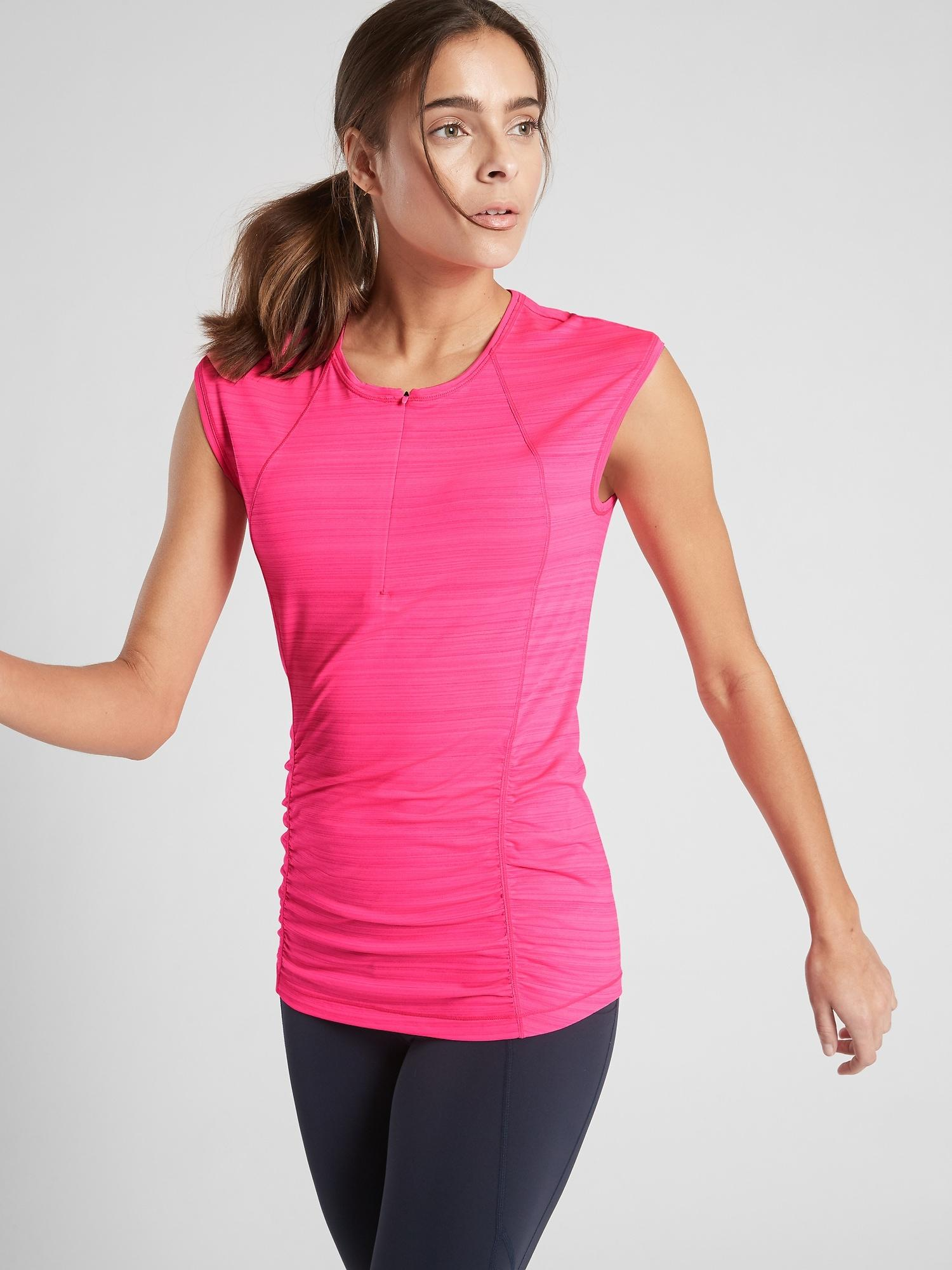 6e3d4456862b5 Lyst - Athleta Pacifica Contoured Tank in Pink