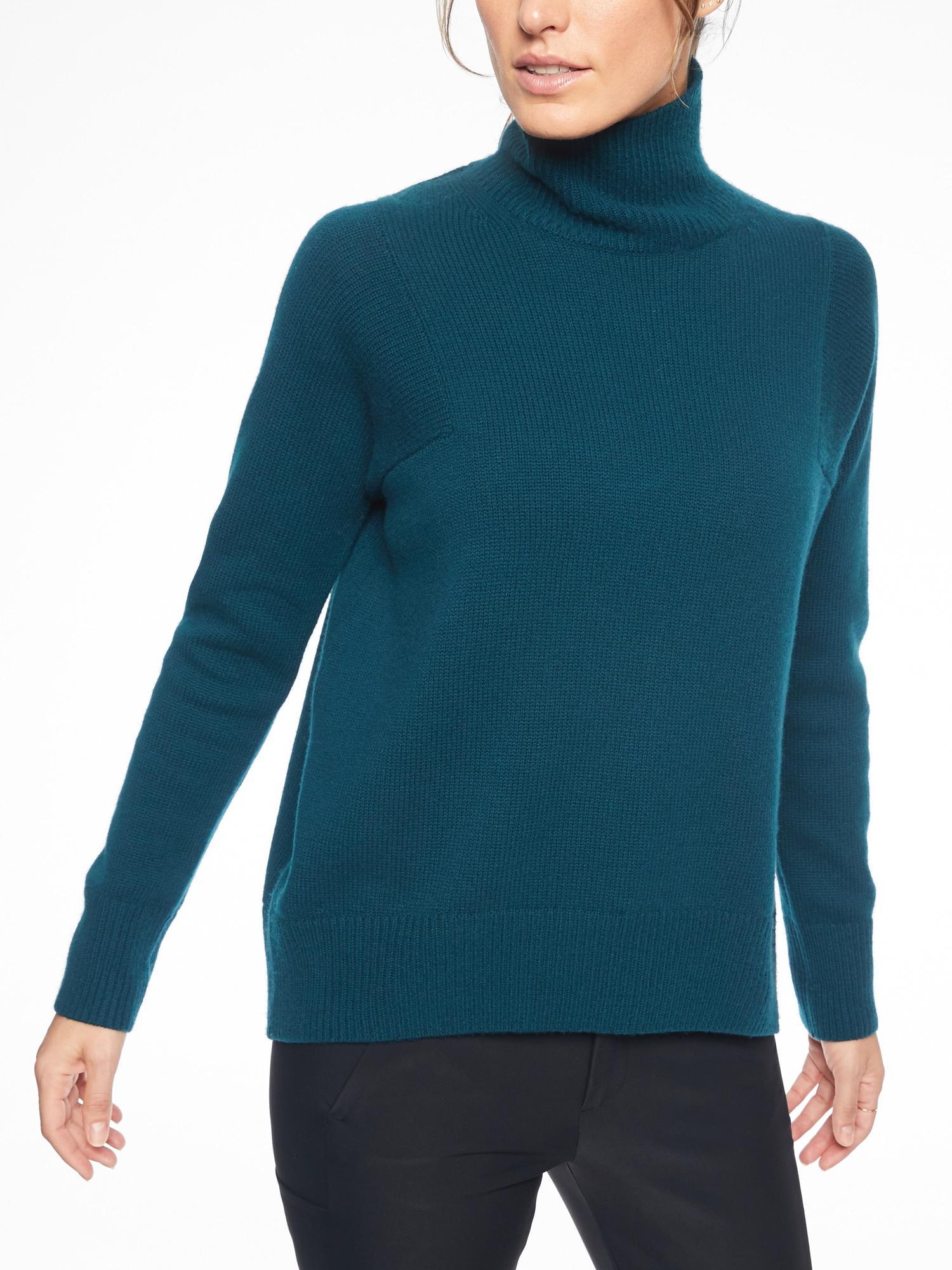 734c2919503 Lyst - Athleta Bedford Wool Cashmere Turtleneck Sweater in Blue