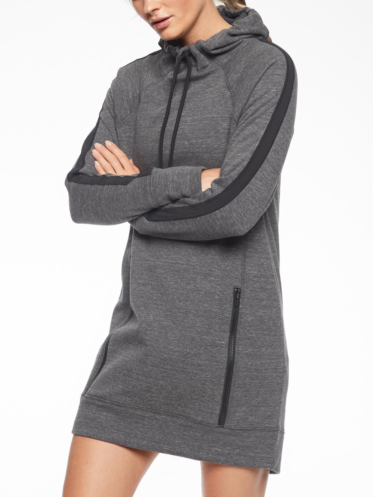 b91a023b810 Athleta Victory Sweatshirt Dress in Gray - Lyst