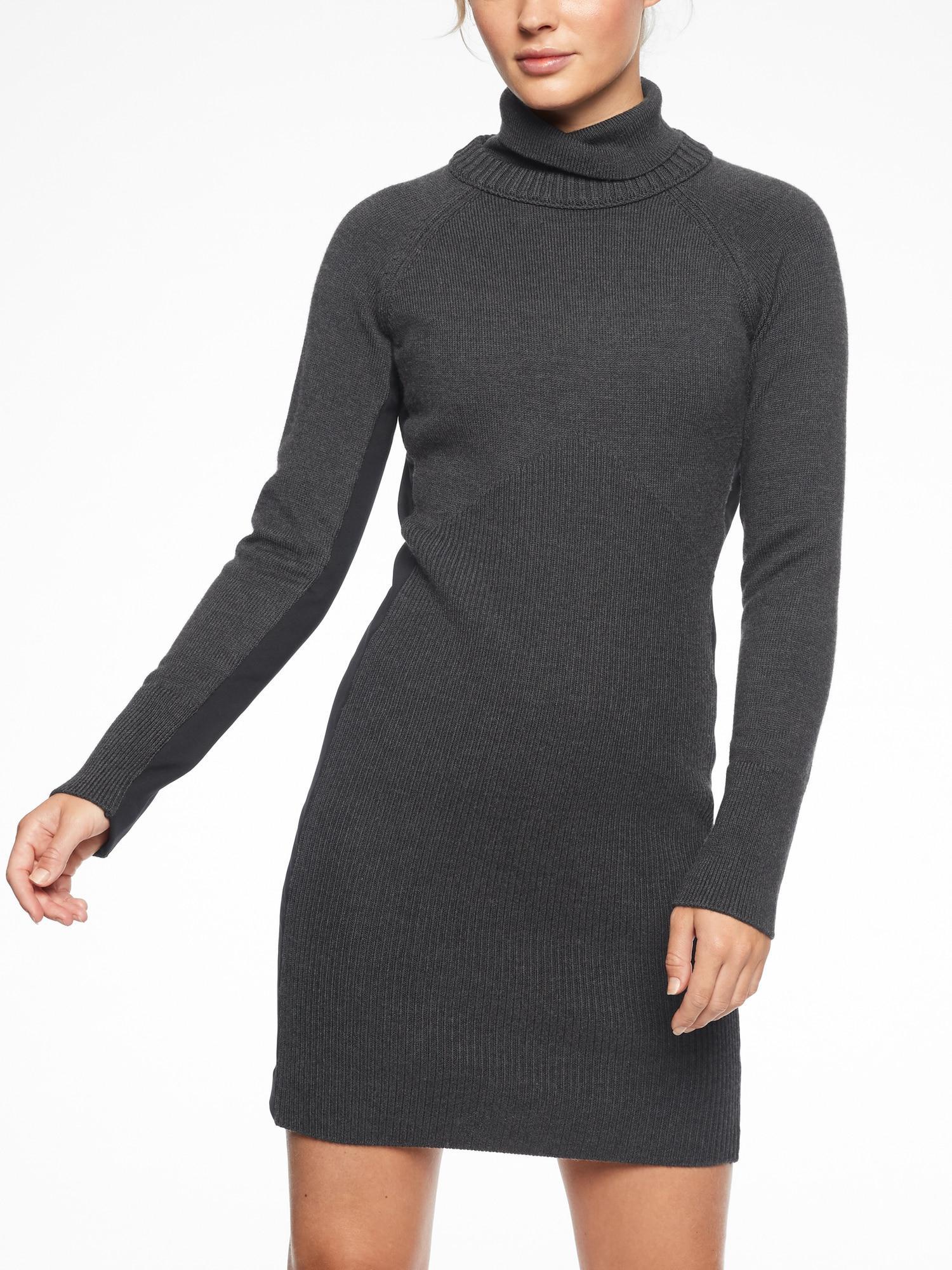 74f43989317 Athleta Mesa Hybrid Sweater Dress in Gray - Lyst