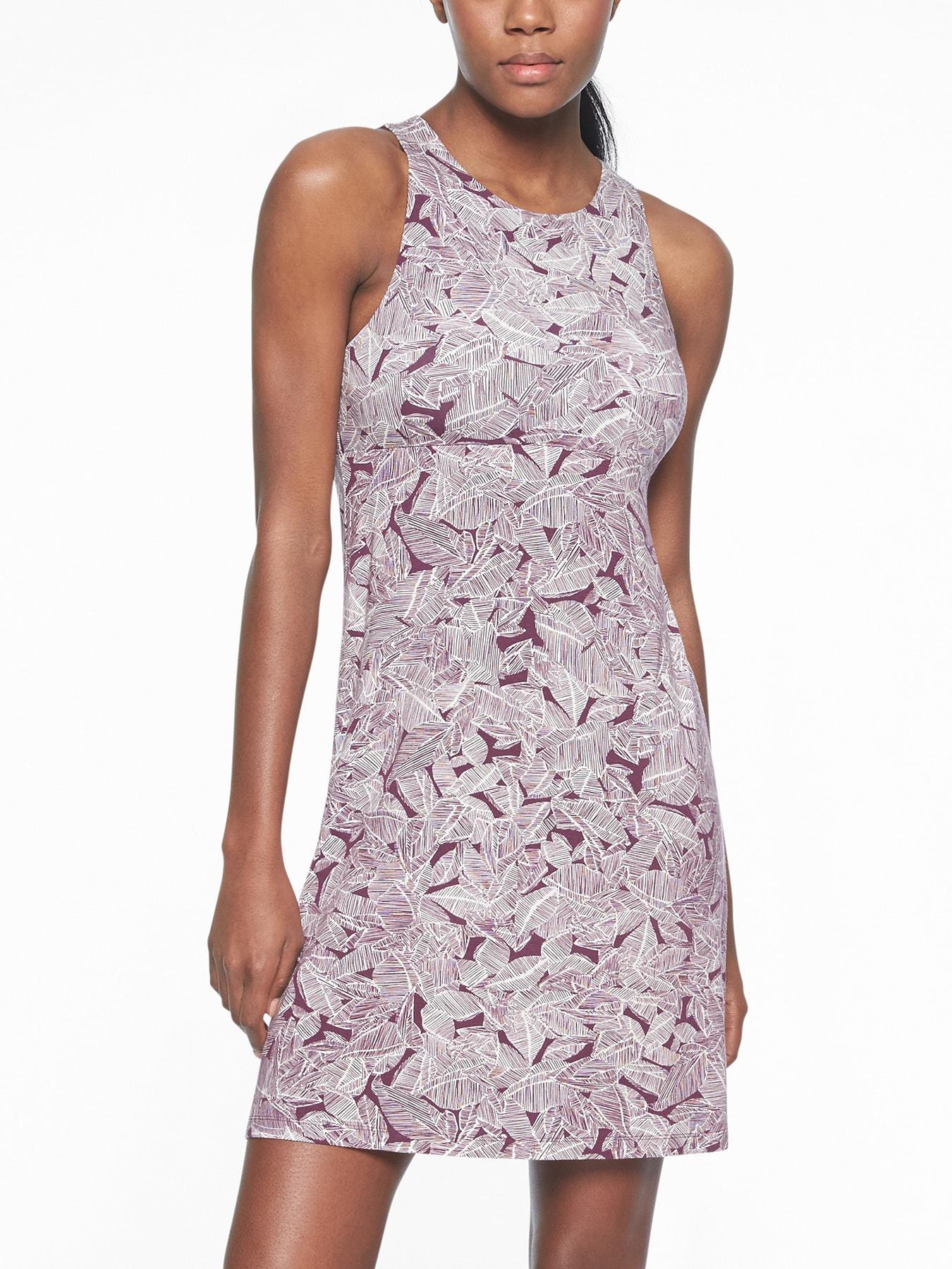 0608b52fce373 Athleta Santorini Printed High Neck Dress - Lyst