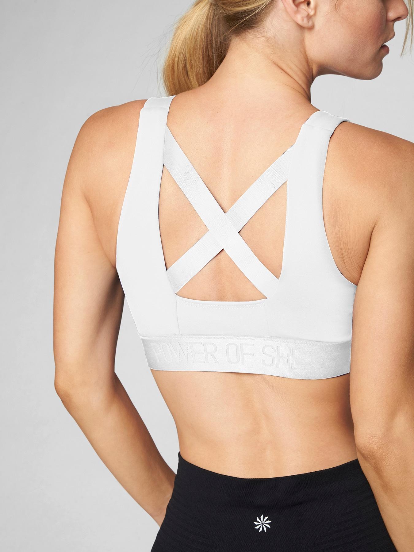 072765d8daa18 Lyst - Athleta Power Of She Bra in White