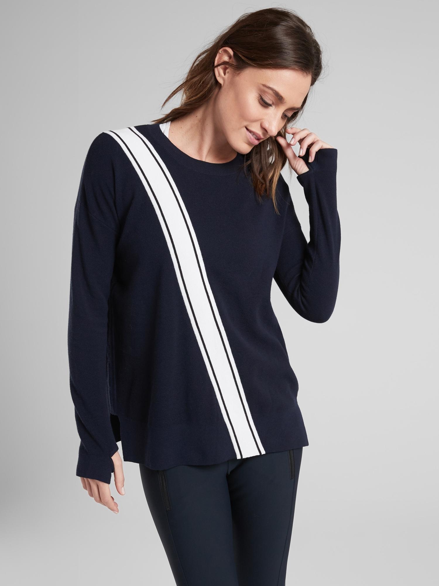 1305fdc5cdfaa Lyst - Athleta Streetwise Sweater in Blue