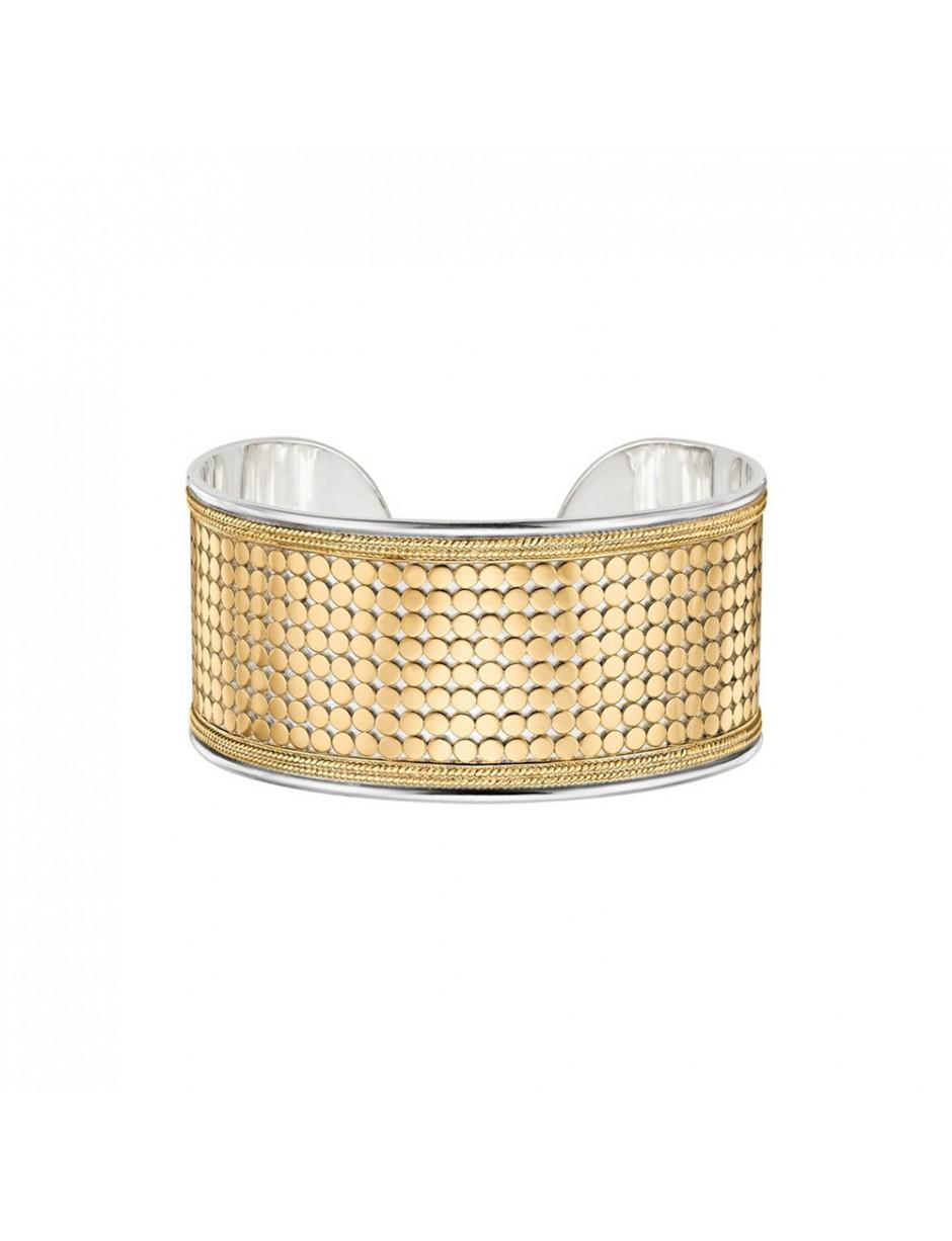 Anna Beck Medium Beaded Cuff in Gold (Metallic)