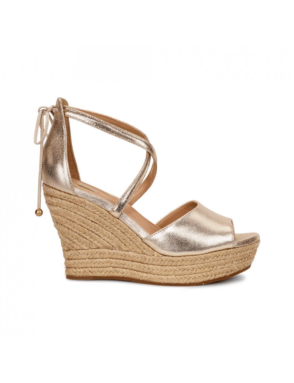 9a3c7a09019 Ugg Ladies Reagan Short Metallic Wedge Sandal