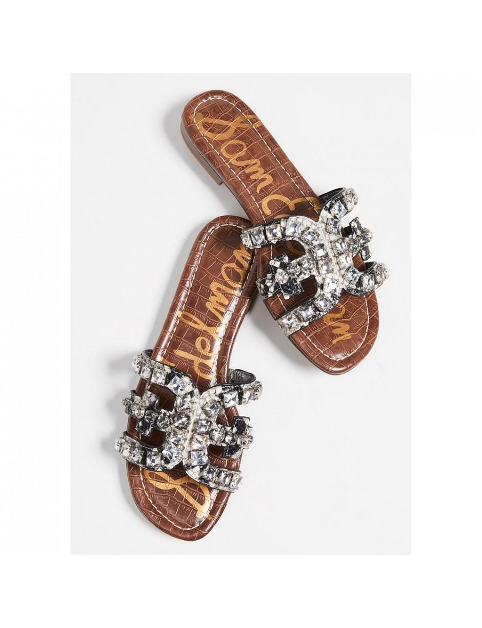 71fe9e25b Sam Edelman. Women s Bay Leather Python Slide Sandals