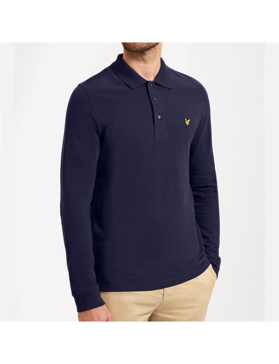 15d32a18812 Lyle   Scott Lyle And Scott Ls Polo Shirt in Blue for Men - Lyst