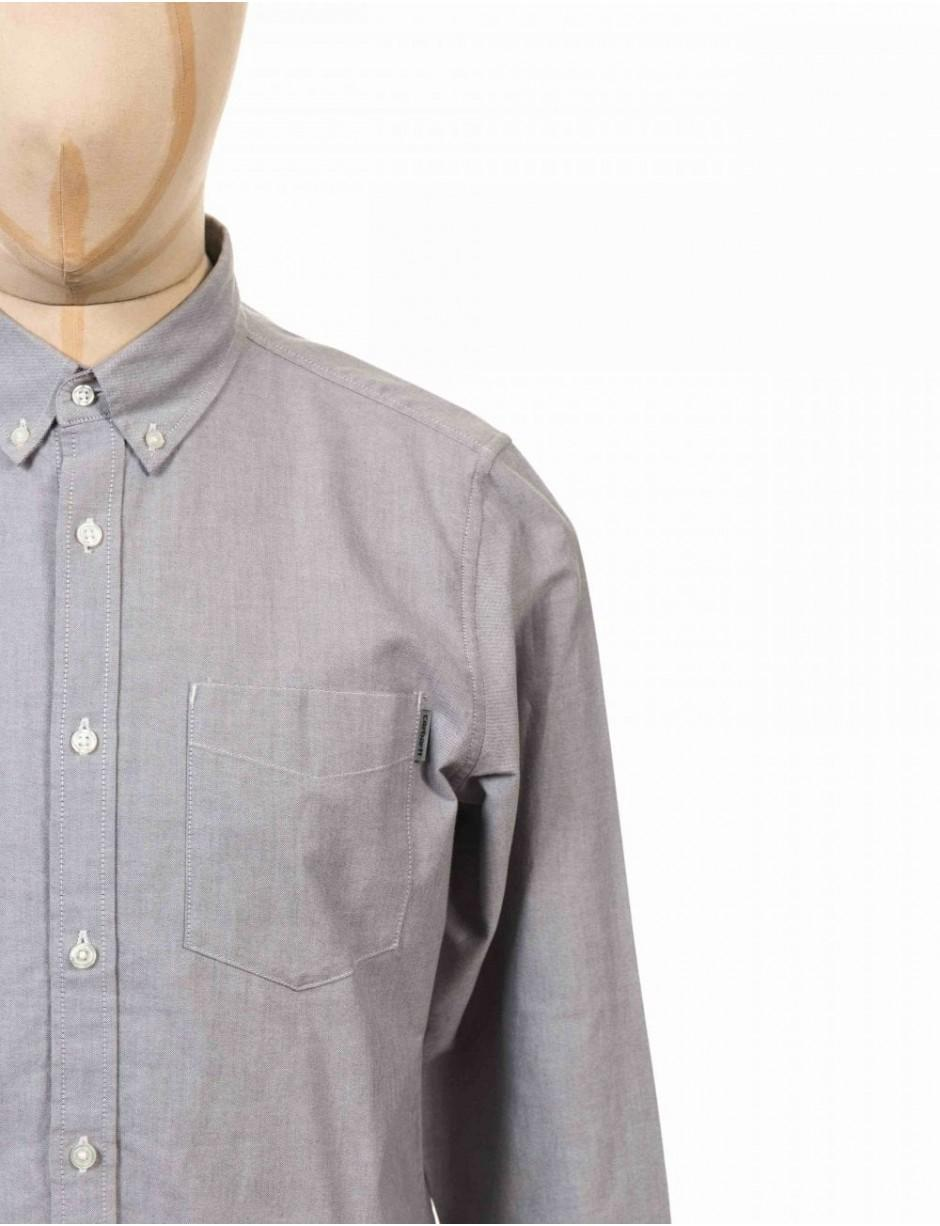 CARHARTT camicia Fort Solid LONG SLEEVE SHIRT DENIM BLUE Chambray
