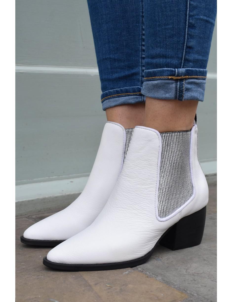 8edb42844 Sol Sana Dials White   Silver Boots in White - Lyst