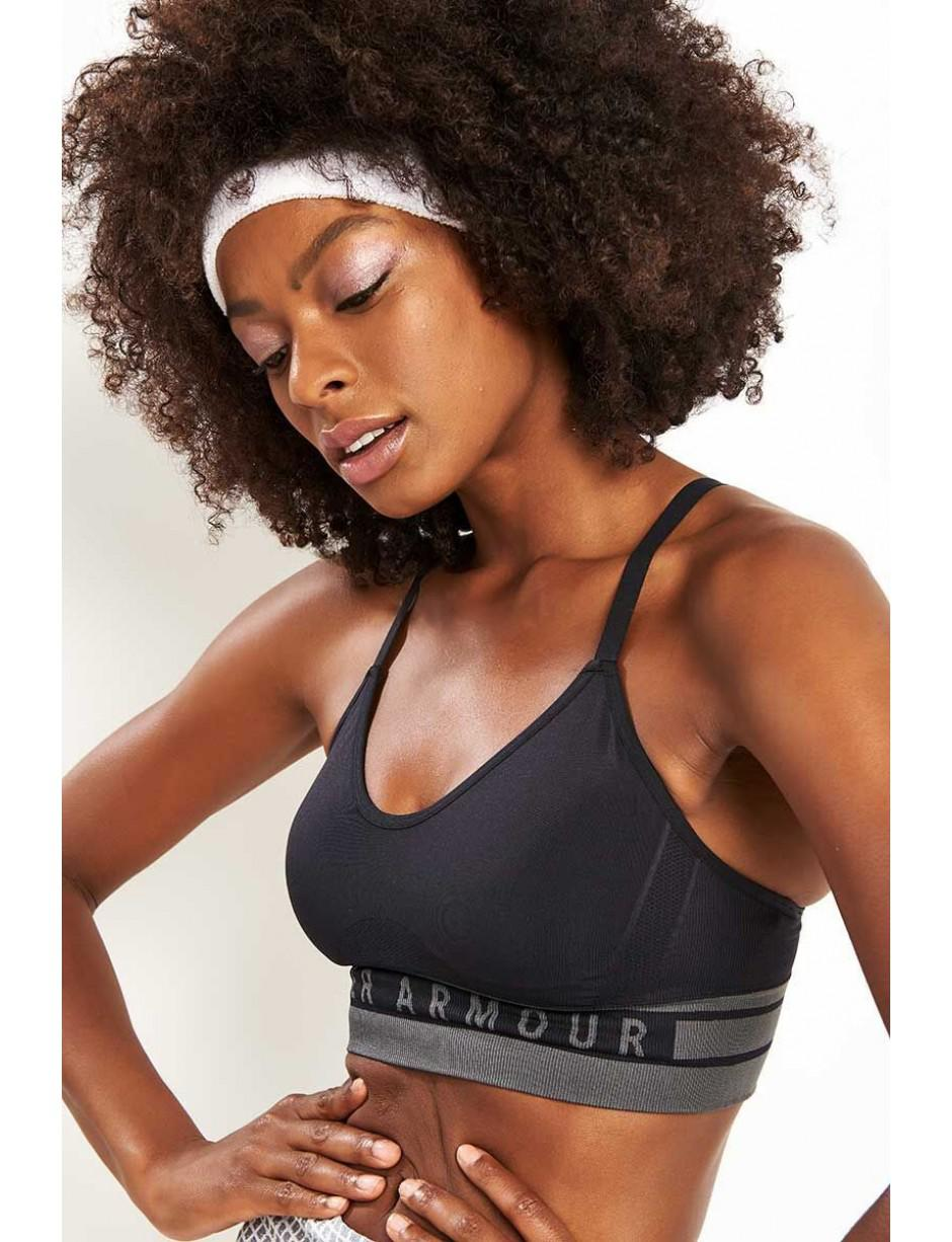 79ff2d7d683a3 Under Armour Seamless Longline Sports Bra in Black - Save 30% - Lyst