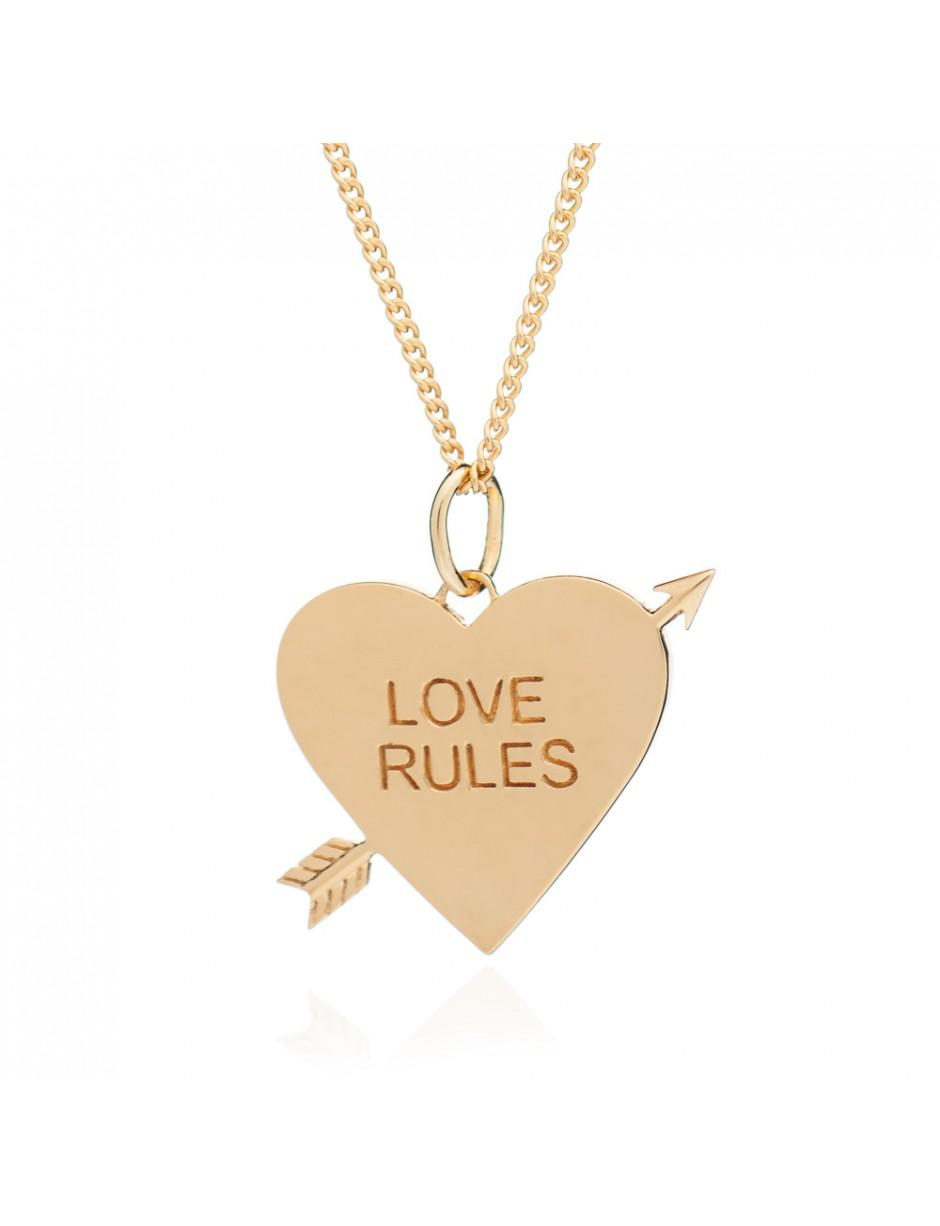 Rachel Jackson Love Rules Necklace in Gold (Metallic)