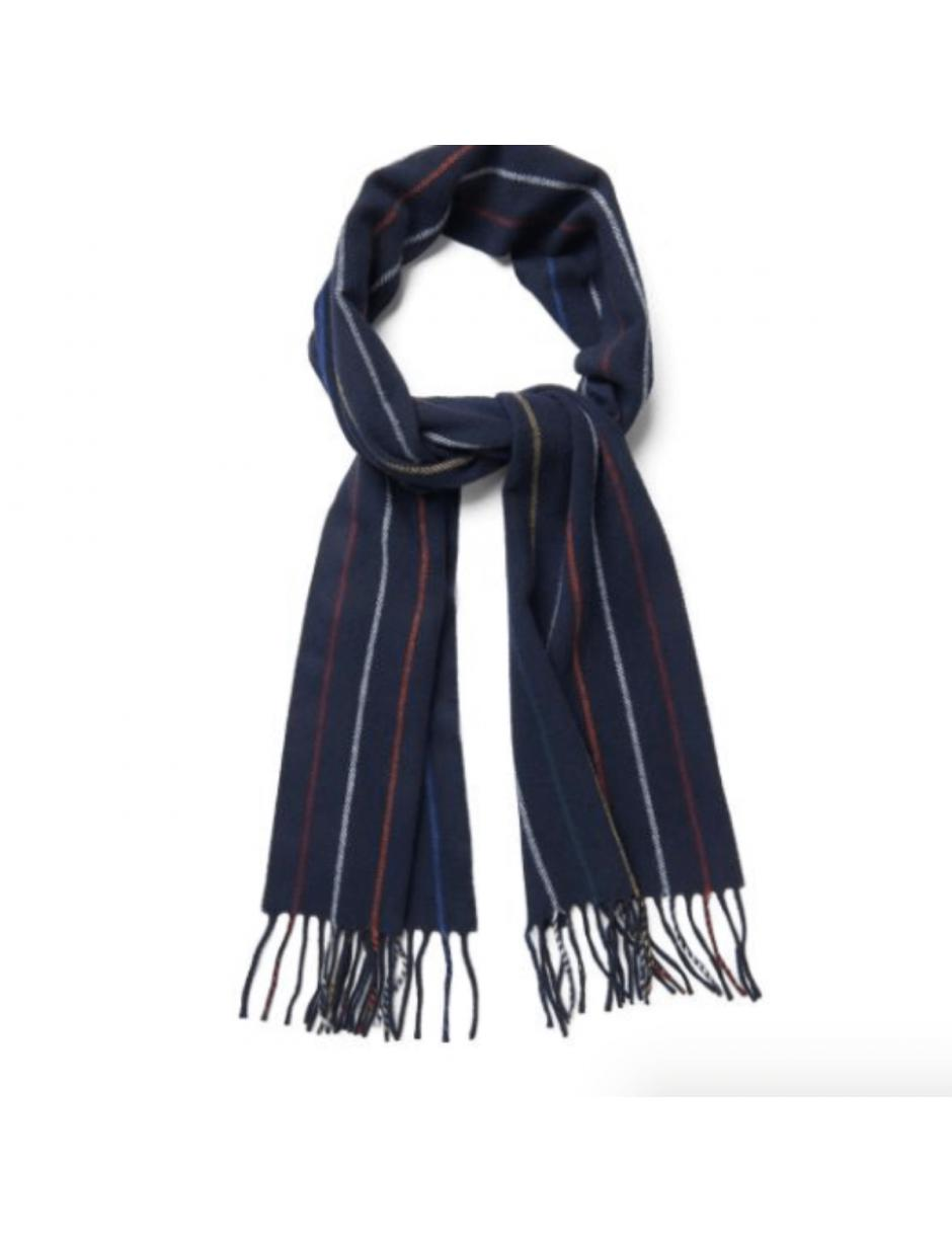Lyst - GANT Striped Lambswool Scarf in Blue for Men 95e2f702dc8