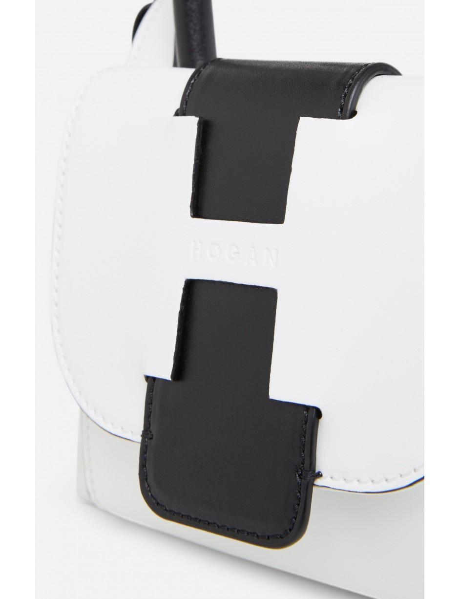Hogan Bauletto White Leather Mini Bag - Lyst