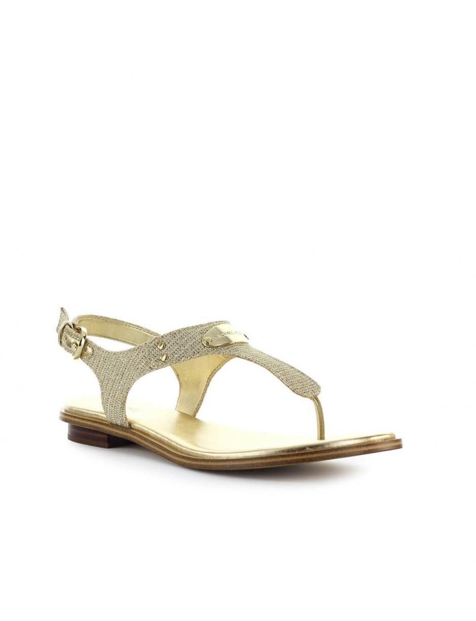 5f92f2eb58c4 MICHAEL Michael Kors. Women s Metallic Michael Kors Gold Glitter Mk Plate  Thong