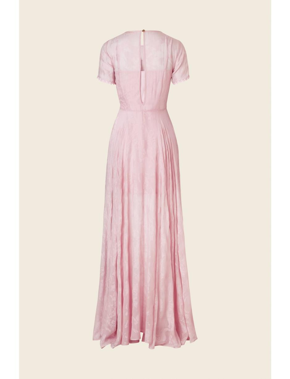 983f3aa7c89 Stine Goya Nanna Long Pink Garden Dress in Pink - Lyst