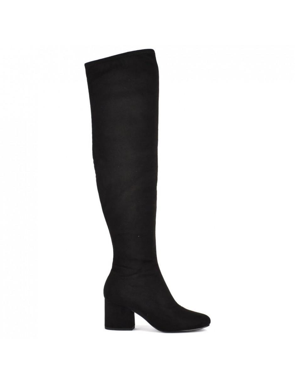 Kendall + Kylie Sophia Knee High Suede Boots in Black