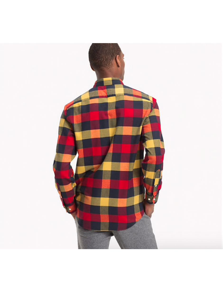 bdcc5901a740 Lyst - Tommy Hilfiger Buffalo Check Flannel Shirt in Red for Men