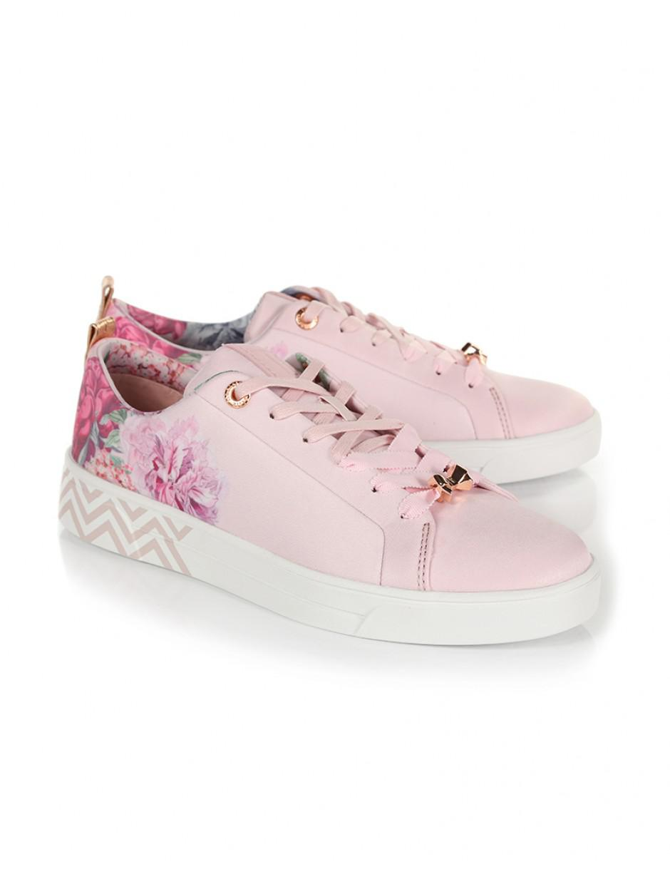 14a1e5369 Lyst - Ted Baker Women s Kelleit Leather Trainers in Pink