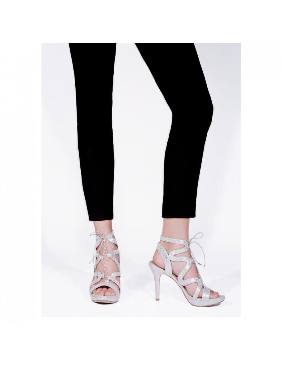e2f4b35ae8db Sargossa Chic Leather Heels in Metallic - Lyst