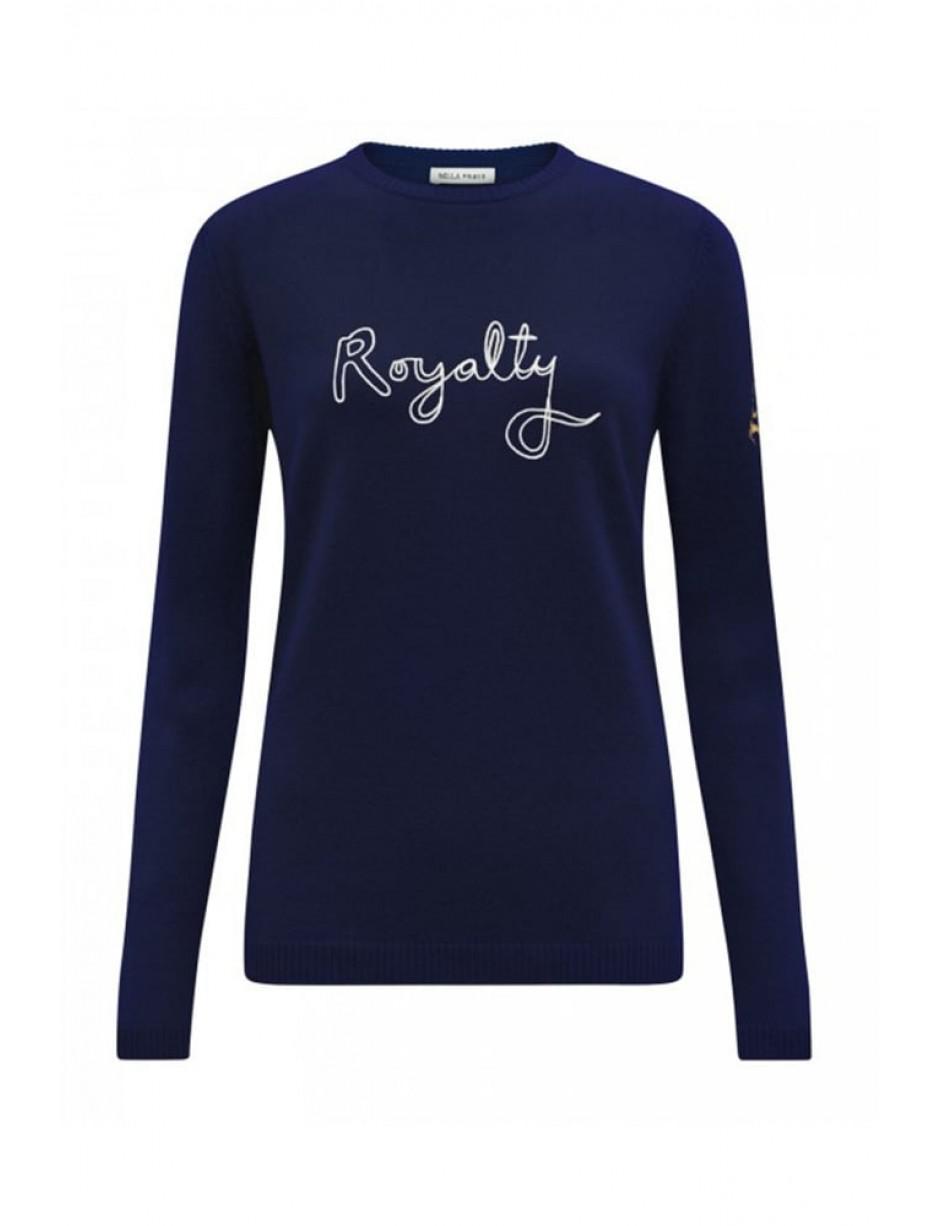 Bella Freud Wool Royalty Jumper In Navy in Blue