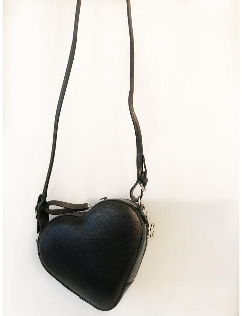 b1753f67262 Vivienne Westwood Johanna Heart Crossbody Bag Black in Black - Lyst