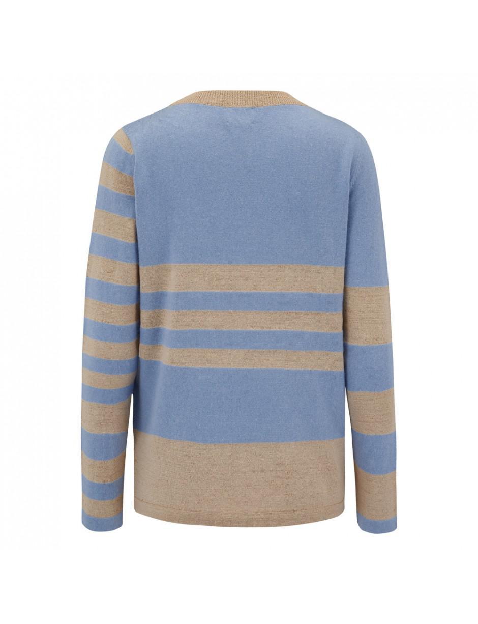 Lyst - Orwell + Austen Orwell + Austen Baby Bowie Stripe Jumper in Blue b257de700