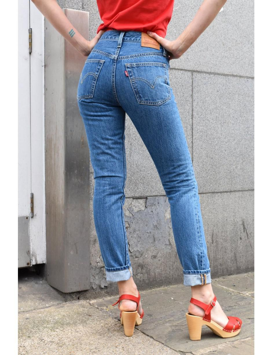 Levi's Denim Levi's 501 Skinny Rolling Dice Jeans in Blue