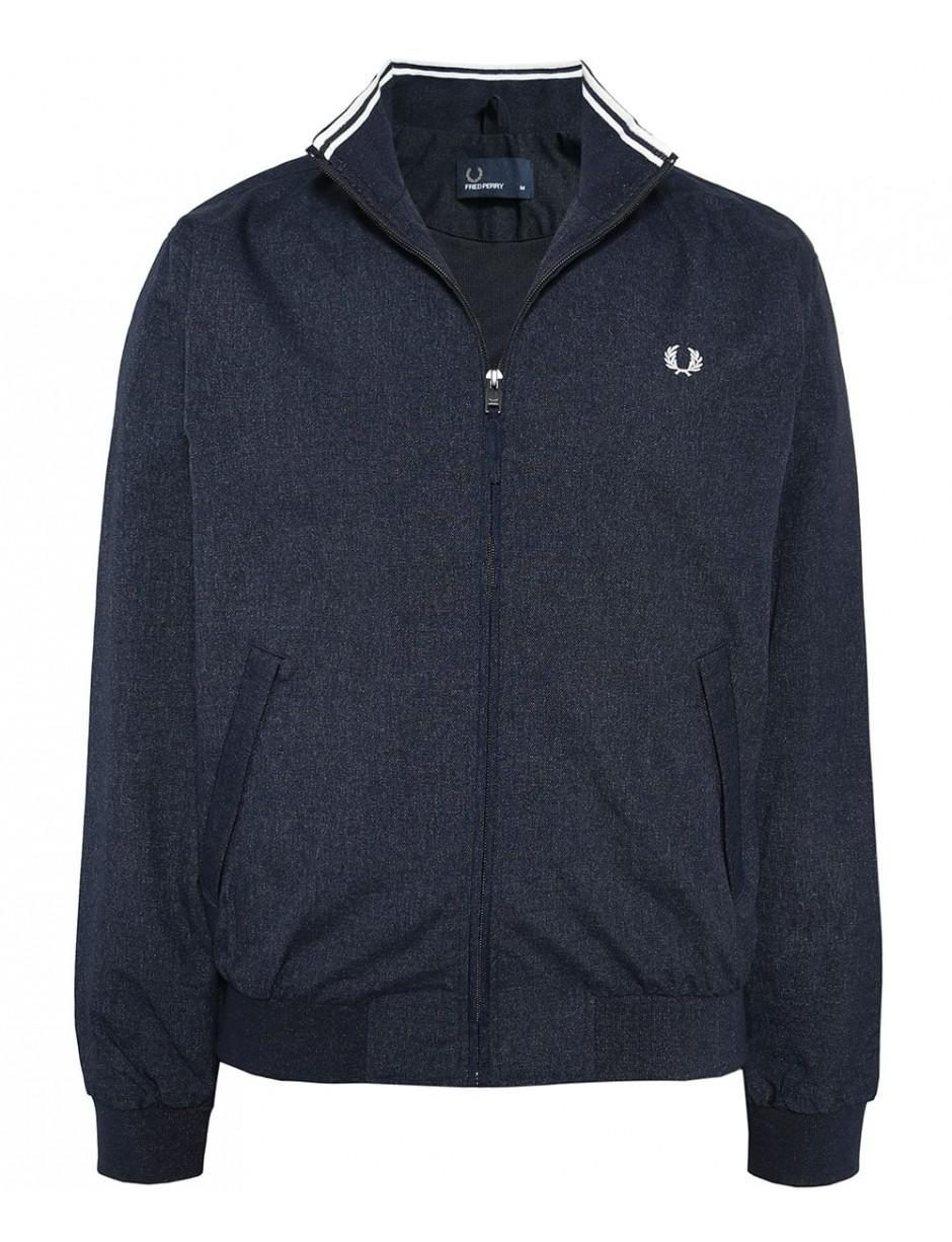 Fred Perry Synthetic Marl Brentham Jacket in Navy (Blue) for Men