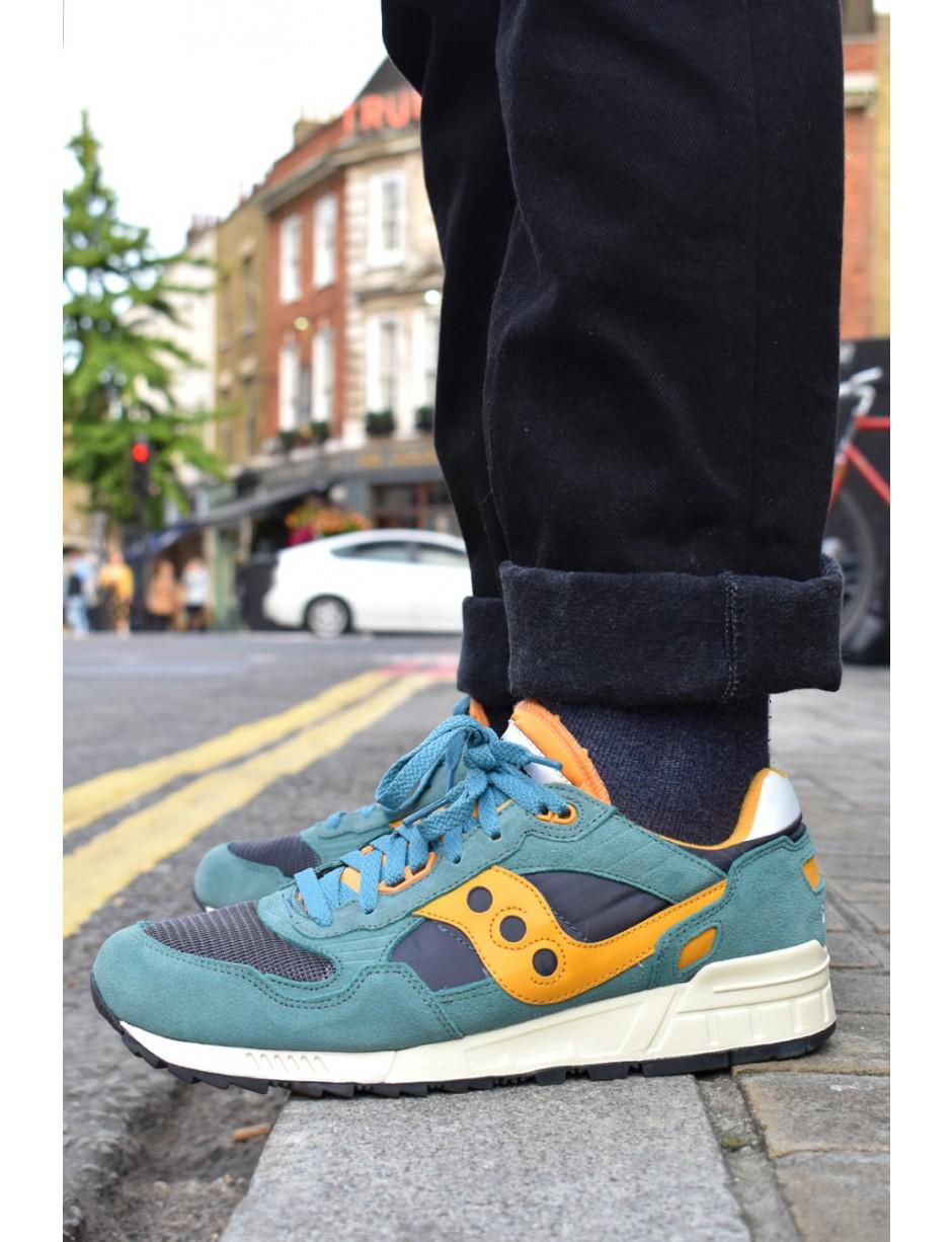 buy online b8b49 e5699 Saucony Shadow 5000 Vintage Teal, Blue & Orange Trainers for men